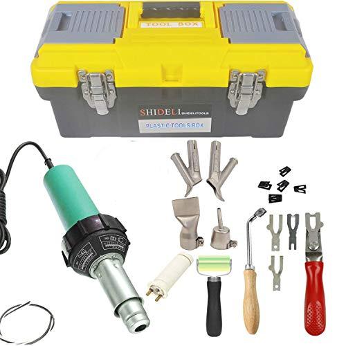 Go2Home 1600W Plastic Welder Kit Hot Air Gun Complete Tool Set Hand Held Torch Welder Pistol with...