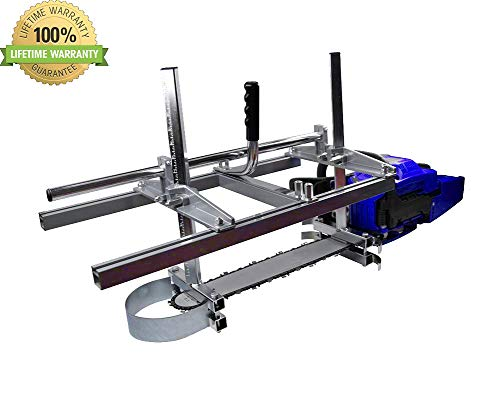 Chainsaw Mill portable Aluminum Steel Saw Mill Planking Lumber Cutting Milling 36'