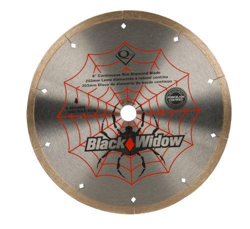 QEP 6-8008BW 8-Inch Black Widow Micro-Segmented Rim Diamond Blade, 5/8-Inch Arbor, Wet Cutting, 7640...