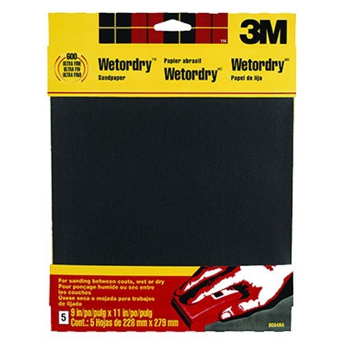 3M Wetordry Sandpaper, Very Fine Grit, 9-Inch by 11-Inch, 5-Sheet