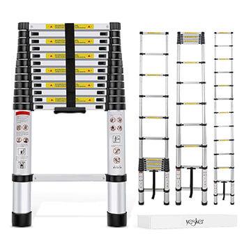 Generic EN131 Std. Best 12.5Ft Aluminum Telescopic Telescoping Ladder