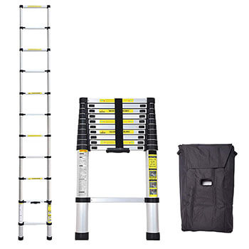 IdealChoiceProduct Best 10.5 Ft Telescopic Telescoping Ladder