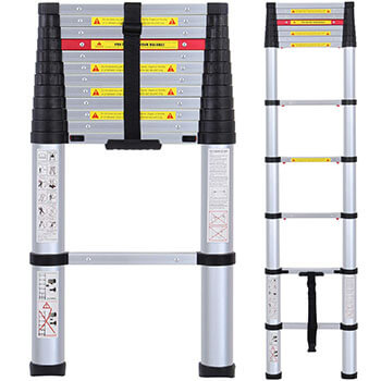 Lifewit 12.5ft EN131 Telescoping Ladder Telescopic Multi-Purpose Ladder