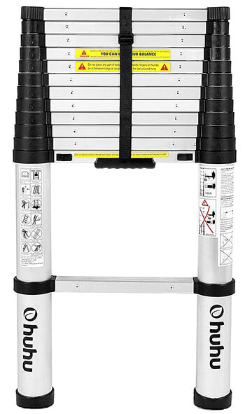 Ohuhu Best 12.5ft Aluminum Telescopic Extension Ladder