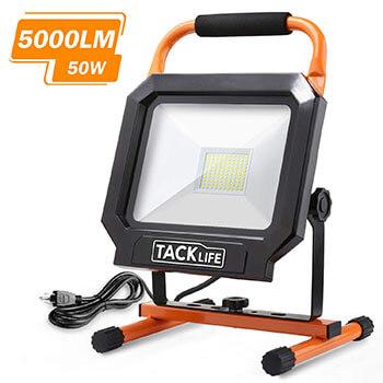Tacklife 5000LM 50W LED Work Light for Workshop, Construction Site, Fishing