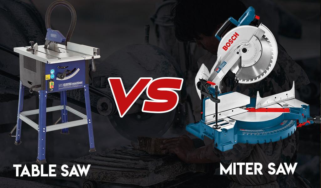 Table Saw vs. Miter Saw