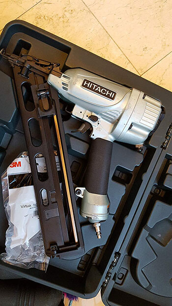 The Hitachi NT65MA4 15 Gauge Finish Nailer