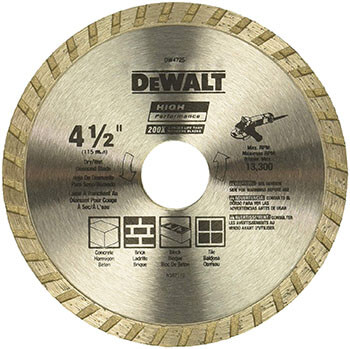 DEWALT DW4725 Dry Cutting Saw Blade