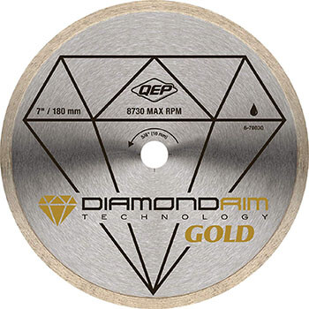 QEP 6-7003Q Premium Diamond Blade for Wet Cutting Porcelain