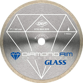 QEP 6-7006GLQ Glass Tile Diamond Blade for Wet Cutting