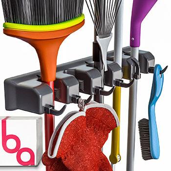 Berry Ave Broom Holder and Garden Tool Organizer Rake