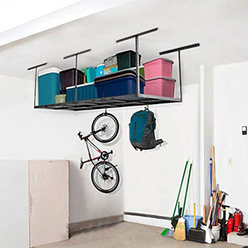 Best 3x8 ft Overhead Garage Storage Rack Set Ceiling Storage Racks
