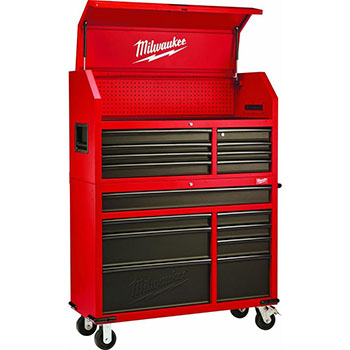 Milwaukee Red and Black Heavy-duty Tool Chest and Rolling Cabinet