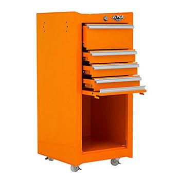 Viper Tool Storage-V1804ORR Best 16-Inch 4-Drawer 18G Steel Salon Cart with Bulk Storage