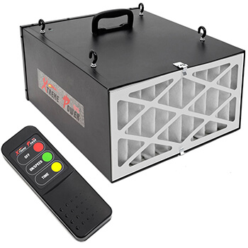 XtremepowerUS, Black 3-Speed Remote Controlled Air Filtration System