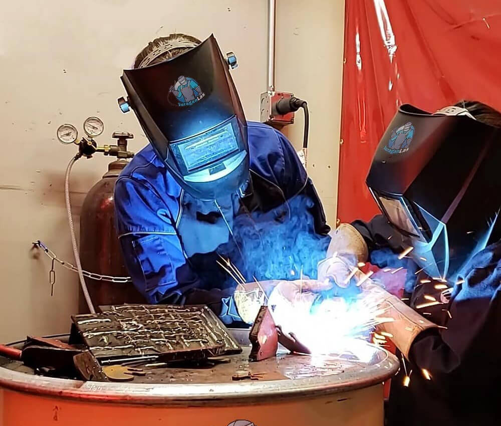 Welding the Metal Pieces Together